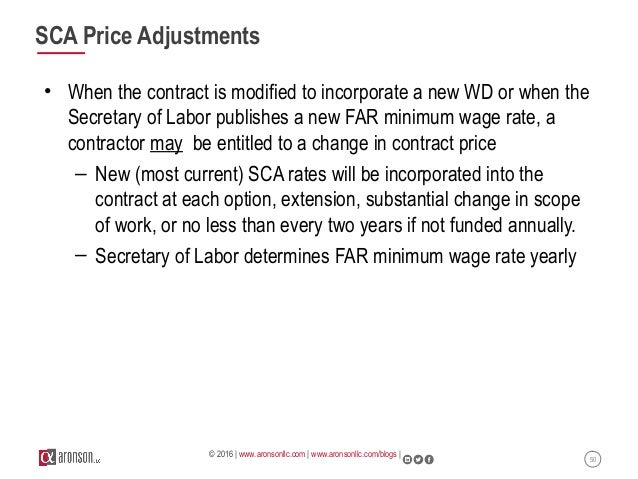 Service Contract Labor Standards And Pricing Implications