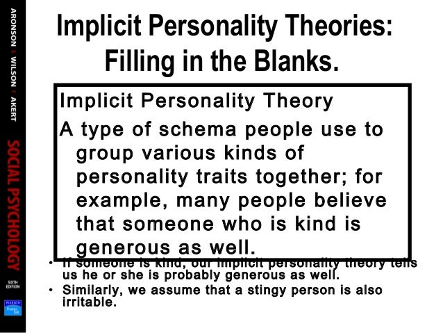 implicit personality theory