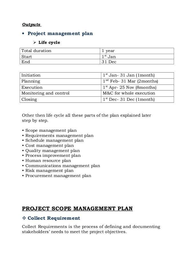 Project management plan building a house