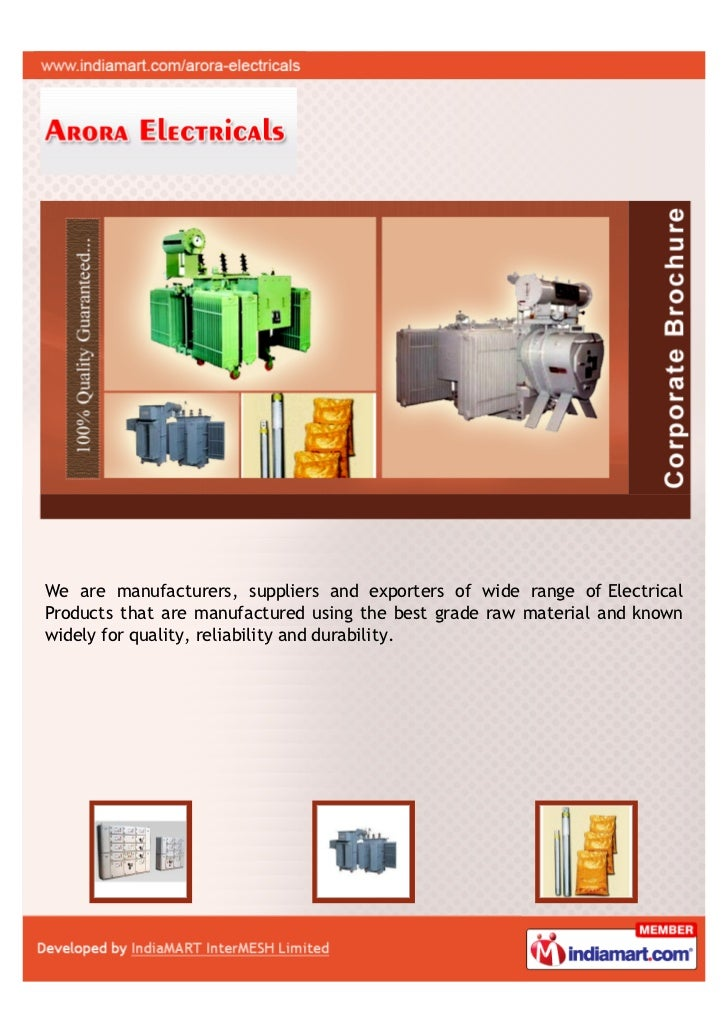 Arora Electricals, Gaziabad, Electrical Products
