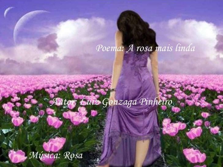 Poema: A rosa mais linda Autor: Luiz Gonzaga Pinheiro Música: Rosa