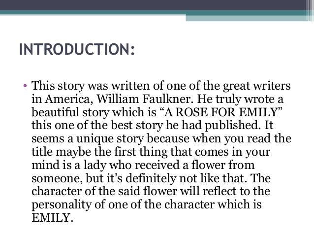 faulkner a rose for emily summary