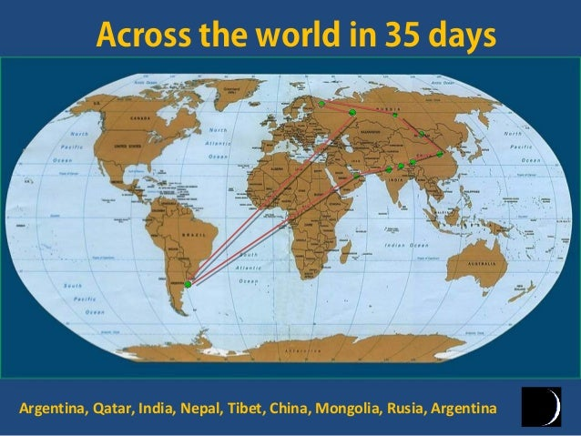 Across the world in 35 daysArgentina, Qatar, India, Nepal, Tibet, China, Mongolia, Rusia, Argentina