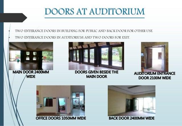 DOORS AT AUDITORIUM ... & Arpan