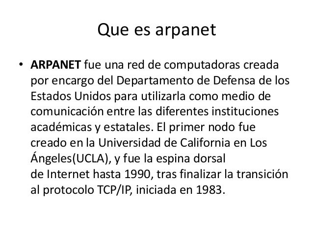 arpanet 1 The arpanet & computer networks  on-line data processing which envisioned a communications network using trunk lines from 100k bits/sec in speed to 15 megabits .