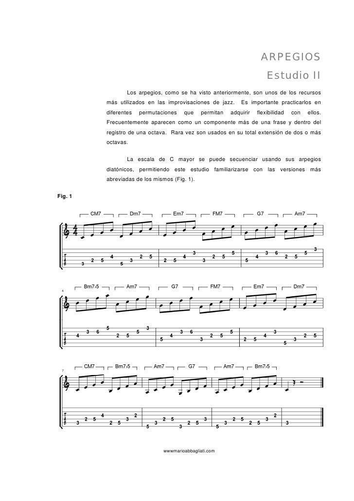 ARPEGIOS                                                                         Estudio II                  Los arpegios,...