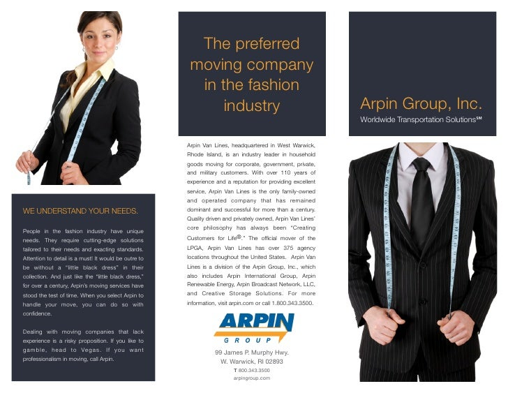 Arpin Group Flyer Fashion