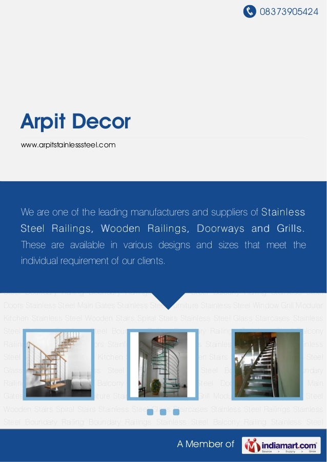 08373905424A Member ofArpit Decorwww.arpitstainlesssteel.comStainless Steel Wooden Stairs Spiral Stairs Stainless Steel Gl...