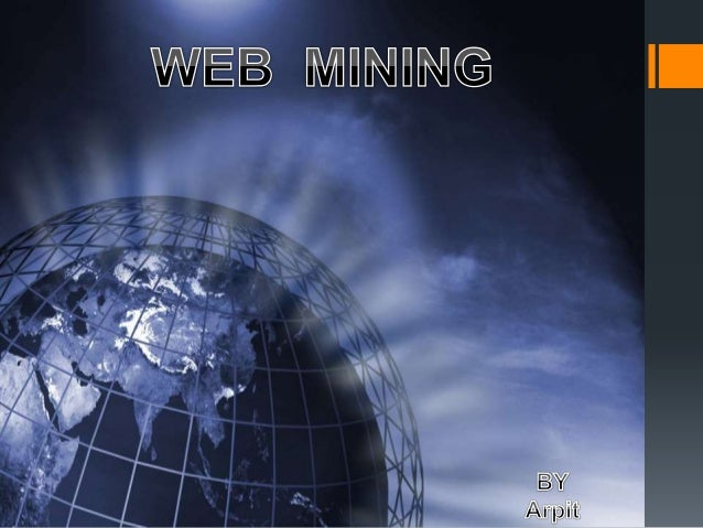 Web Mining is the use of the data mining techniques to automatically discover and extract information from web documents/...