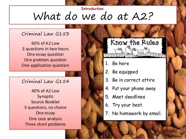 criminal problem question essays