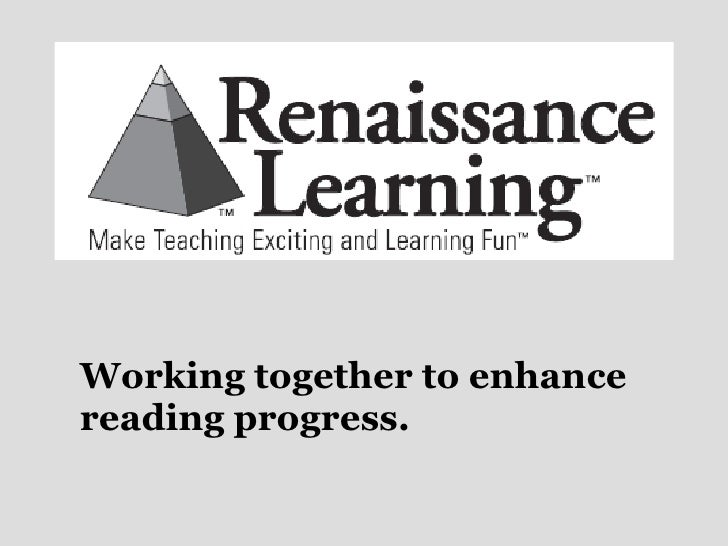 Working together to enhance reading progress.