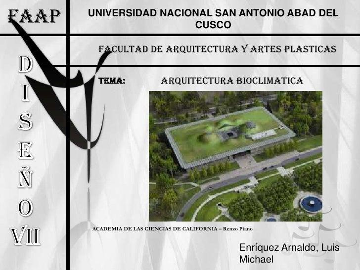 FAAP   UNIVERSIDAD NACIONAL SAN ANTONIO ABAD DEL                        CUSCO         FACULTAD DE ARQUITECTURA Y ARTES PLA...