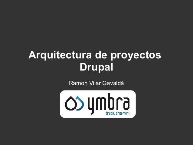 Arquitectura de proyectos Drupal Ramon Vilar Gavaldà