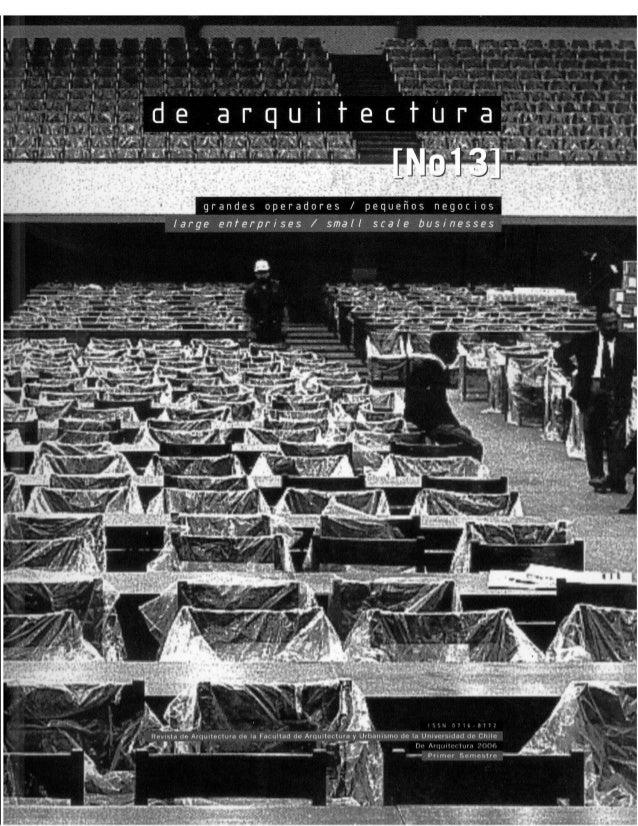 Revista de Arquitectura Nº13 - Muestra