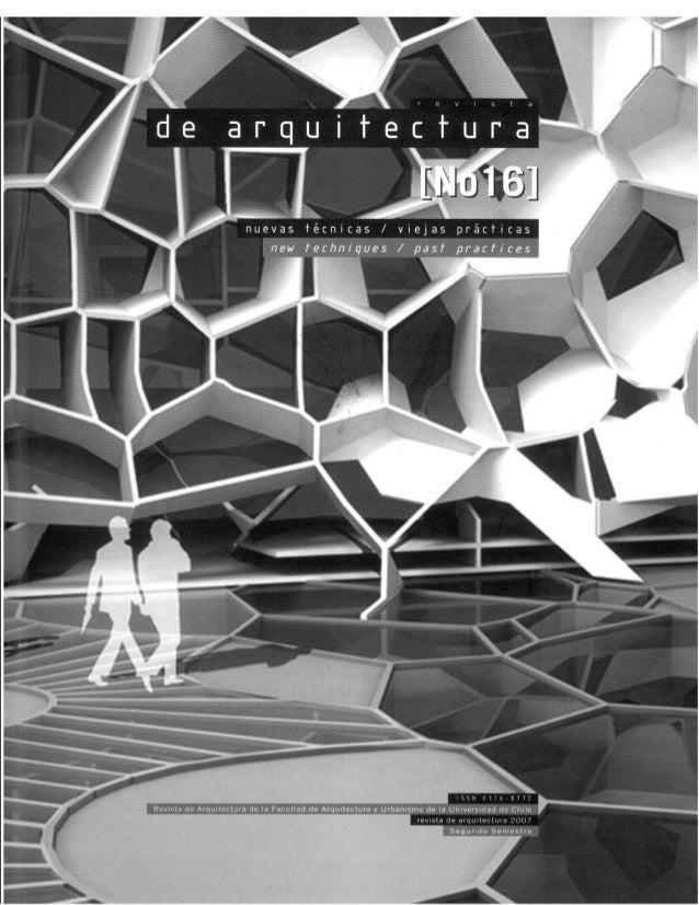 Revista de Arquitectura Nº16 - Muestra