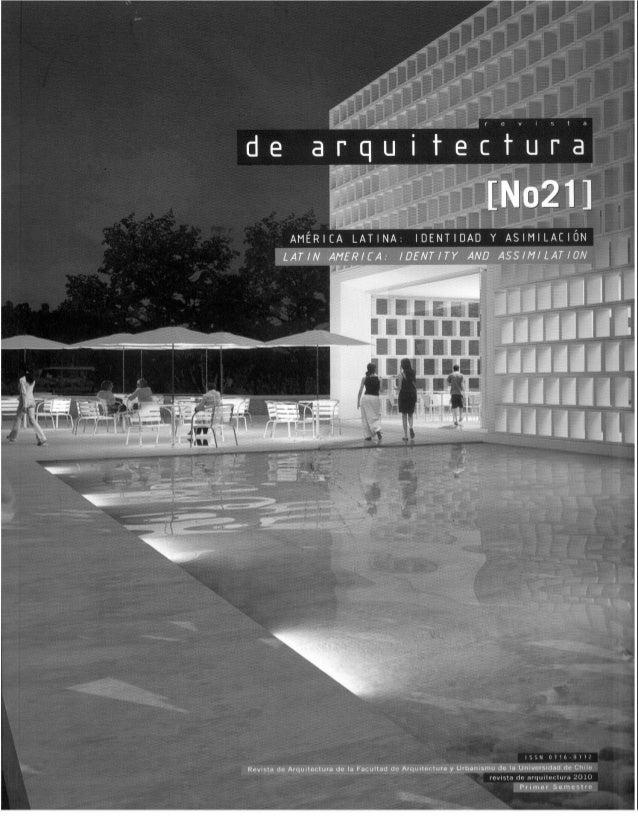 Revista de Arquitectura Nº21 - Muestra
