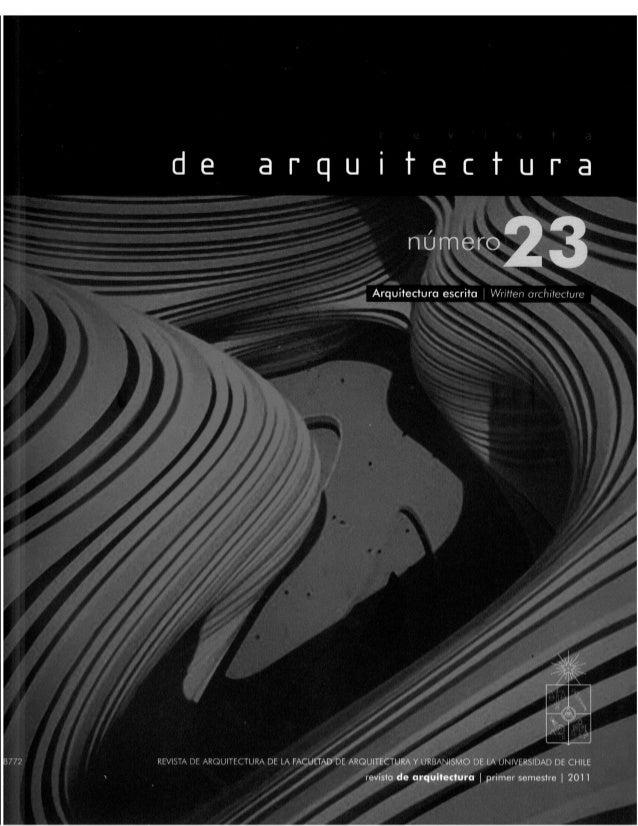 Revista de Arquitectura Nº23 - Muestra