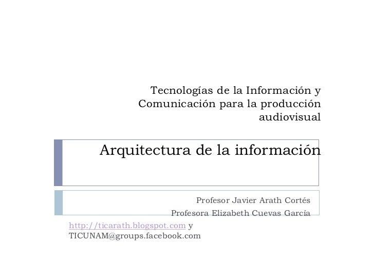 Tecnologías de la Información y               Comunicación para la producción                                     audiovis...