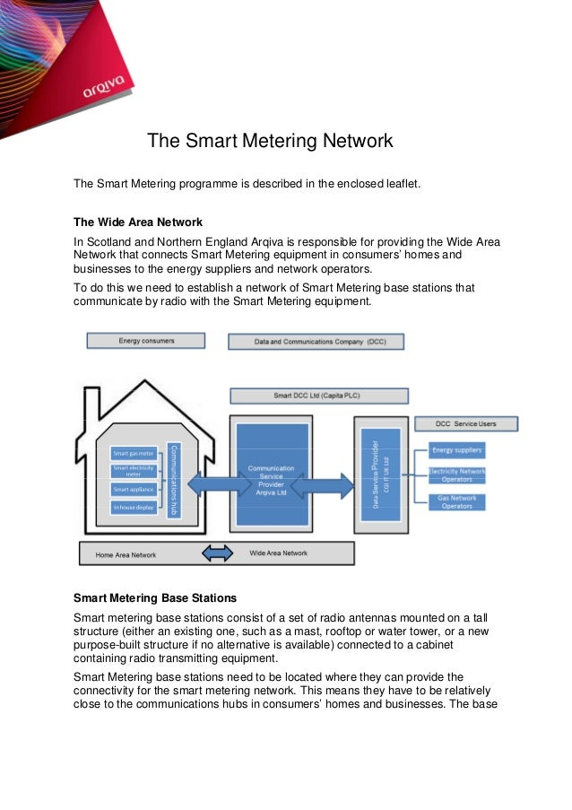 The Smart Metering Network The Smart Metering programme is described in the enclosed leaflet. The Wide Area Network In Sco...