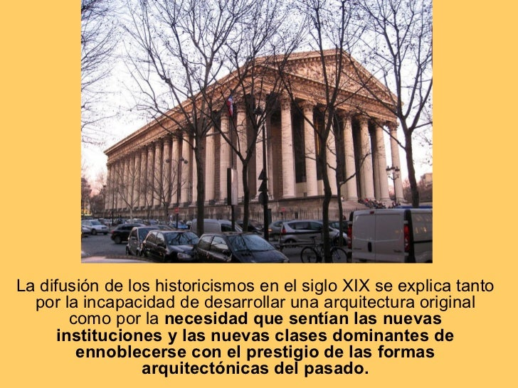 Arquitectura del siglo xix historicisimos hierro y for Cursos de arquitectura uni