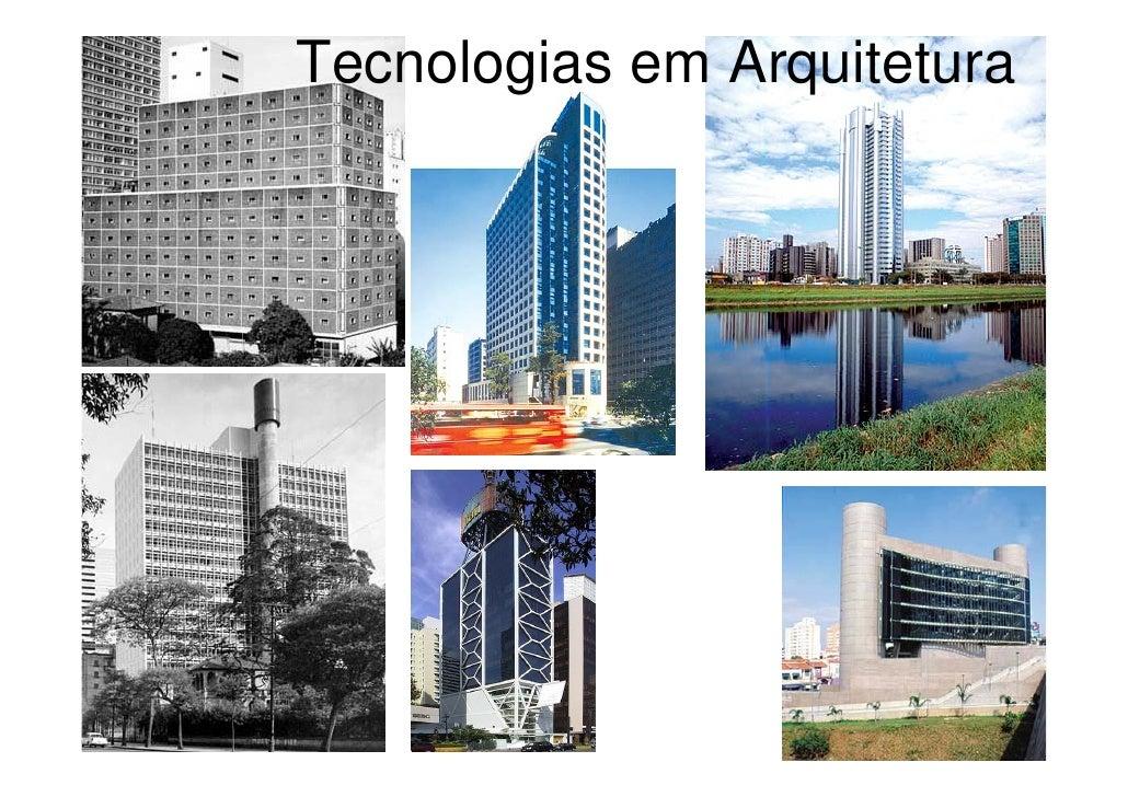 Tecnologias em Arquitetura