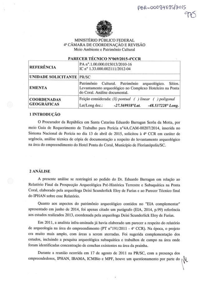 pea-. ooo guests/ ams     A MINISTÉRIO PÚBLICO FEDERAL _ 4a CAMARA DE COORDENAÇAO E REVISAO Meio Ambiente e Patrimônio Cul...