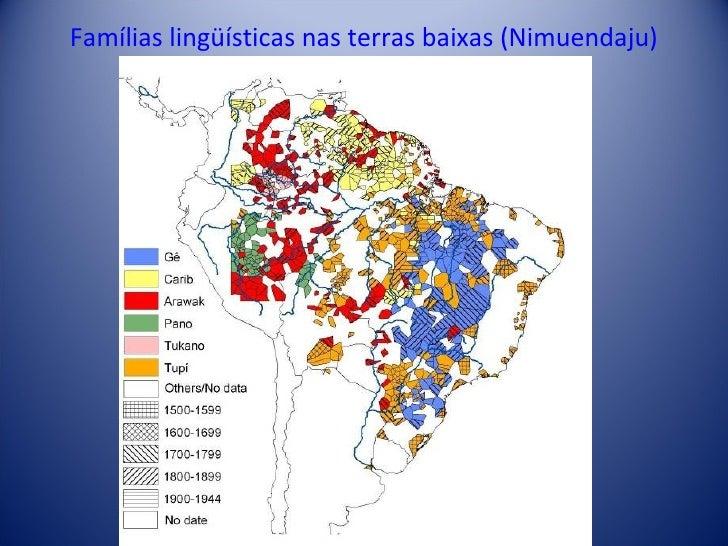 Famílias lingüísticas nas terras baixas (Nimuendaju)
