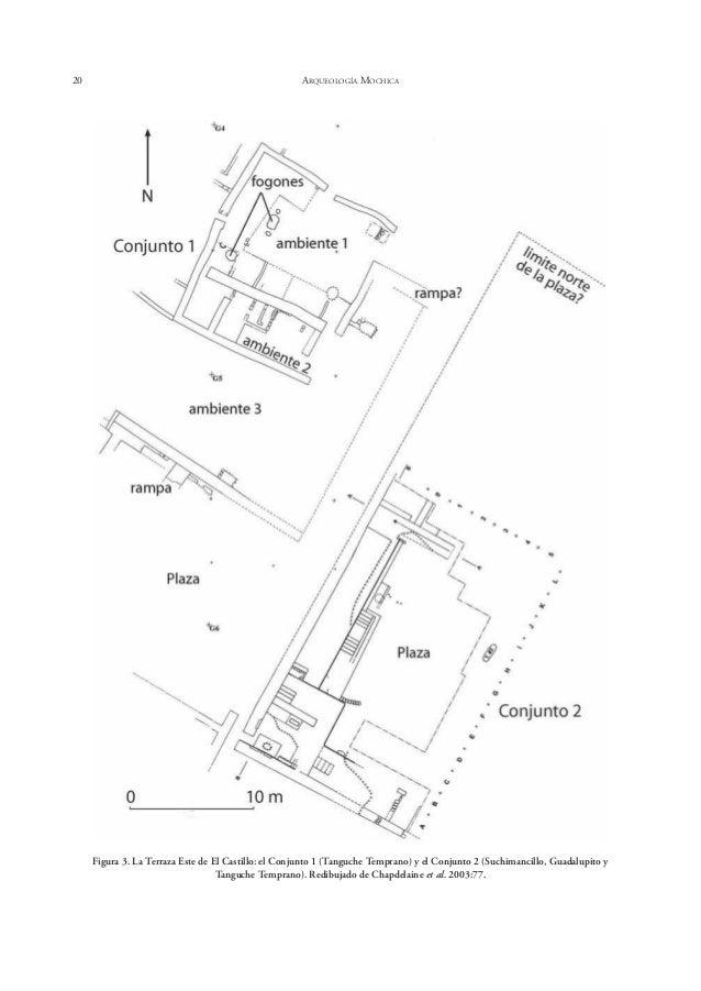 24 ARQUEOLOGÍA MOCHICA Figura 5 (a y b). Cerámica decorada Tanguche Temprano: a) cántaro Negro-Blanco-Rojo con diseños geo...