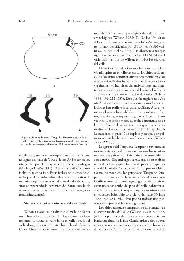 Bélisle EL HORIZONTE MEDIO EN EL VALLE DEL SANTA 25 tridimensional figurativa, aunque la mayoría está de- corada con engob...