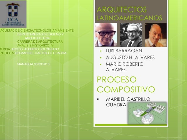 ARQUITECTOS                                            LATINOAMERICANOSFACULTAD DE CIENCIA,TECNOLOGIA Y AMBIENTE          ...