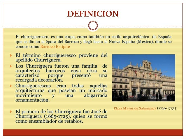 Arquitectura churrigueresca for La arquitectura en espana