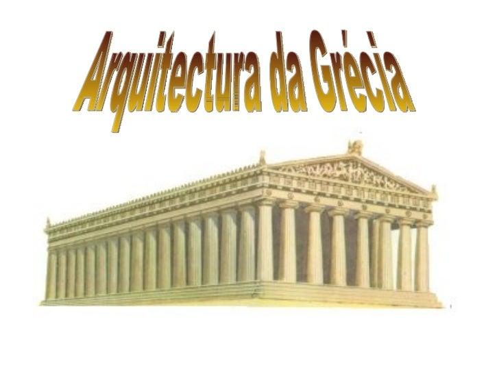 Arquitectura da Grécia