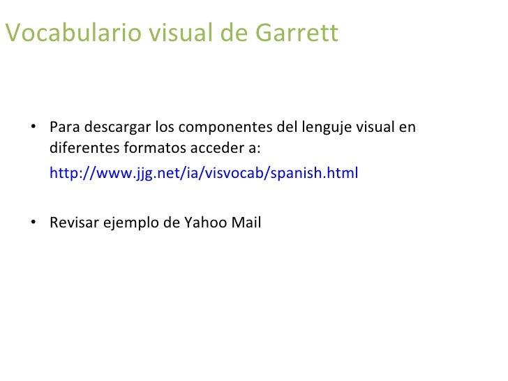 vocabulario visual de Garrett actividades concurrentes continuación del flujo fuente: sitio web de Jesse James Garrett  ht...