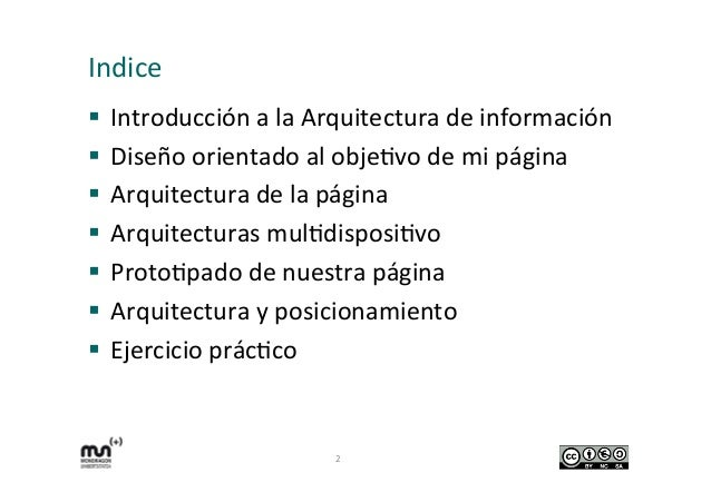 Arquitectura de información de mi web.  Slide 2