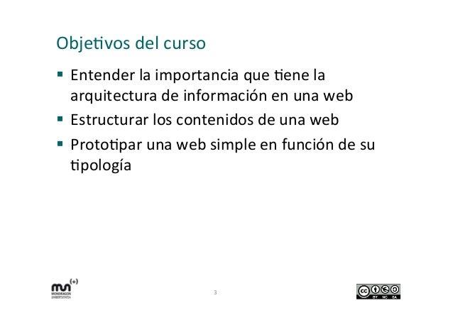 Arquitectura de información de mi web.  Slide 3