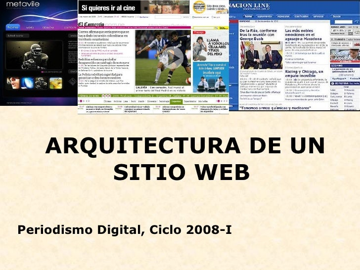 arquitectura de un sitio web On paginas web de arquitectura