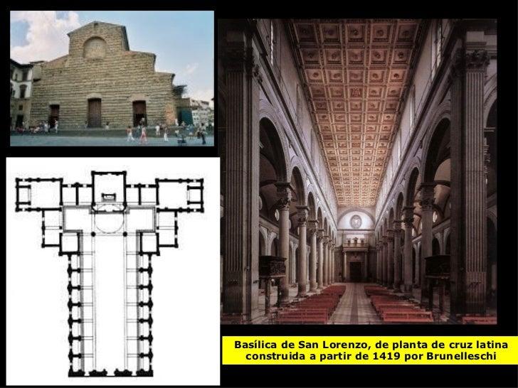 Arquitectura del quatrocento for Interior iglesia san lorenzo brunelleschi