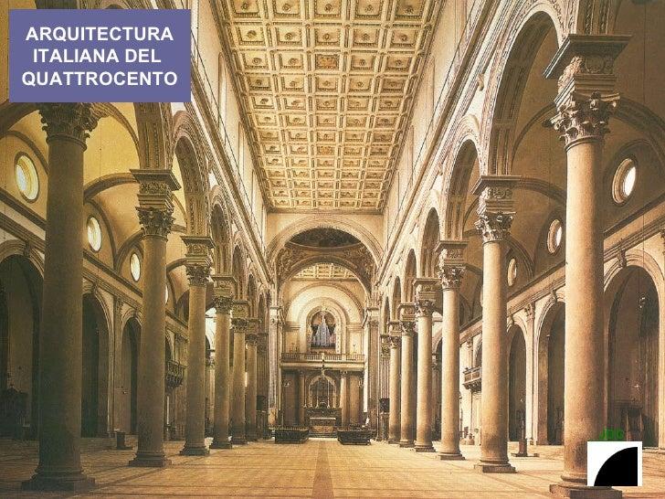 ARQUITECTURA ITALIANA DEL  QUATTROCENTO