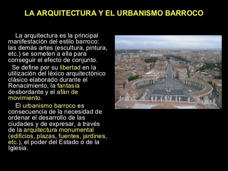 ARQUITECTURA Y URBANISMO BARROCO Slide 2
