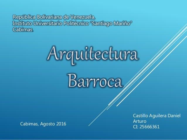 """República Bolivariana de Venezuela. Instituto Universitario Politécnico """"Santiago Mariño"""" Cabimas. Cabimas, Agosto 2016 Ca..."""