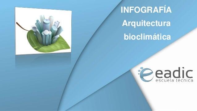 INFOGRAFÍA Arquitectura  bioclimática