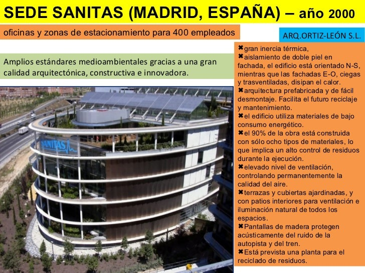 Arquitectura bioclim tica y sustentable for Oficinas centrales sanitas madrid