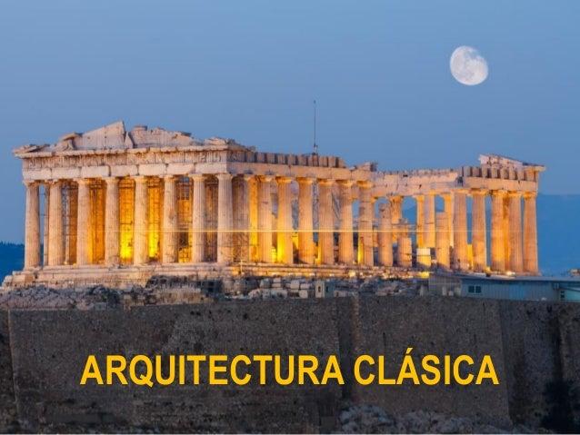 arquitectura cl sica