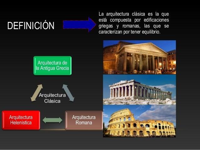 Arquitectura cl sica for Arquitectura definicion
