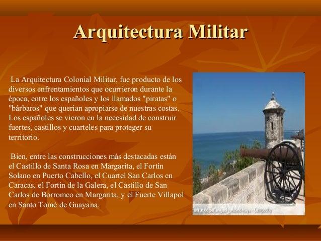Arquitectura colonial for Arquitectura militar
