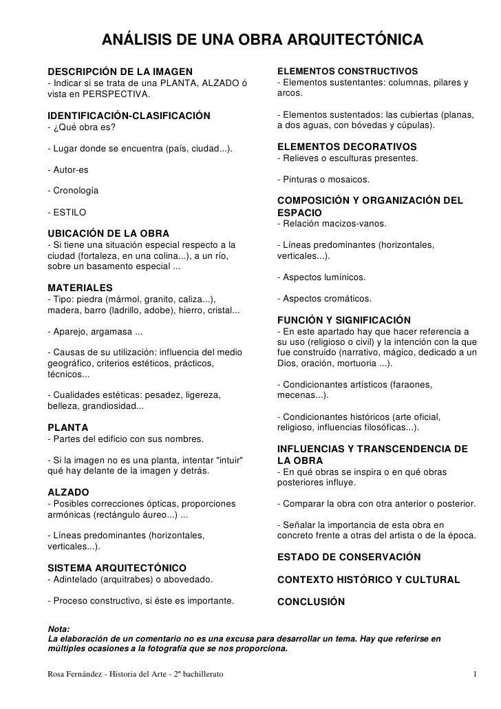 ANÁLISIS DE UNA OBRA ARQUITECTÓNICADESCRIPCIÓN DE LA IMAGEN                               ELEMENTOS CONSTRUCTIVOS- Indicar...