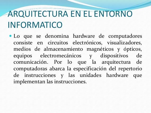 Arquitectura computacional for En que consiste la arquitectura