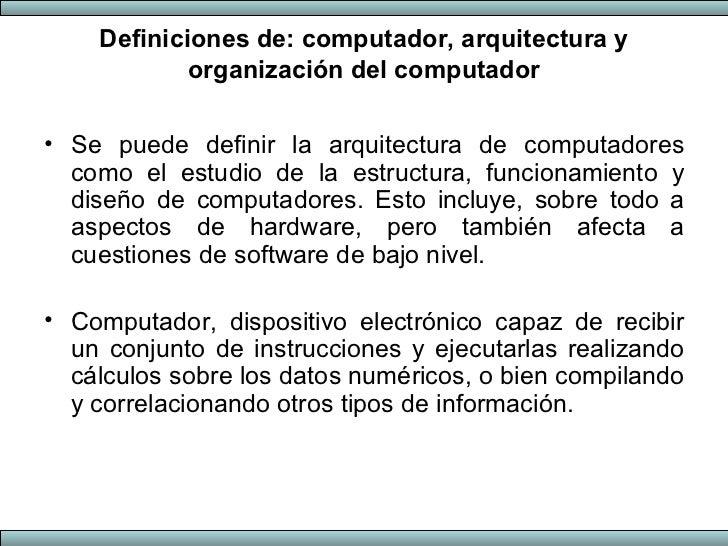Arquitectura de computadores 1 for Arquitectura de computadores