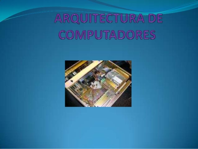 arquitectura de computadores power point