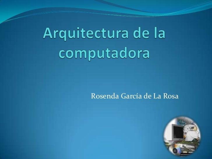 Rosenda García de La Rosa
